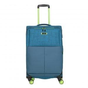 Travelite Proof 4 Wiel Trolley M Expandable petrol Zachte koffer
