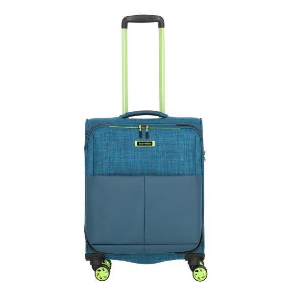 Travelite Proof 4 Wiel Trolley S petrol Zachte koffer