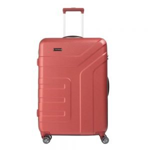 Travelite Vector 4 Wiel Trolley L coral Harde Koffer