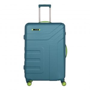 Travelite Vector 4 Wiel Trolley L petrol/lime Harde Koffer