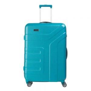 Travelite Vector 4 Wiel Trolley L turquoise Harde Koffer