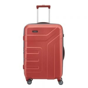 Travelite Vector 4 Wiel Trolley M Expandable coral Harde Koffer