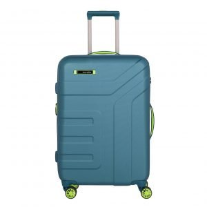 Travelite Vector 4 Wiel Trolley M Expandable petrol/lime Harde Koffer