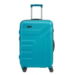 Travelite Vector 4 Wiel Trolley M Expandable turquoise Harde Koffer
