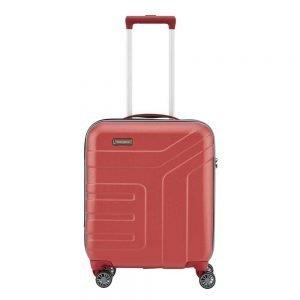 Travelite Vector 4 Wiel Trolley S coral Harde Koffer
