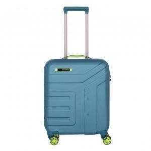 Travelite Vector 4 Wiel Trolley S petrol/lime Harde Koffer