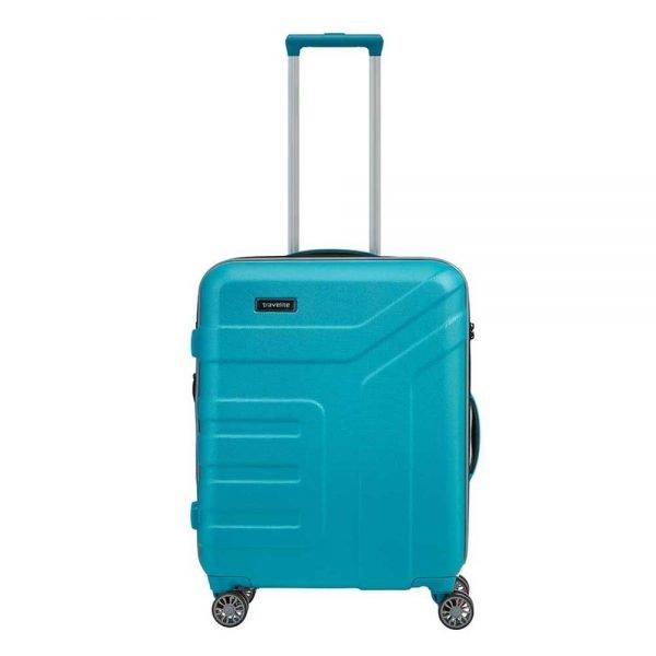 Travelite Vector 4 Wiel Trolley S turquoise Harde Koffer