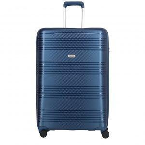 Travelite Zenit 4 Wiel Trolley L blue Harde Koffer