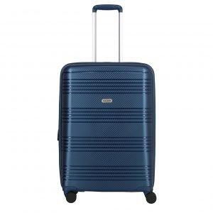 Travelite Zenit 4 Wiel Trolley M Expandable blue Harde Koffer