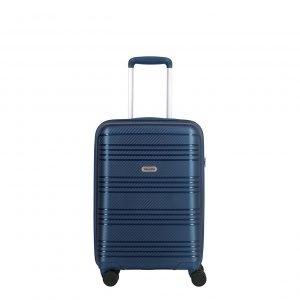 Travelite Zenit 4 Wiel Trolley S blue Harde Koffer