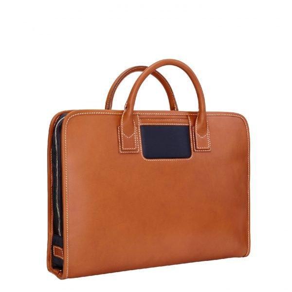 Travelteq Briefcase Original cognac/navy Aktetas