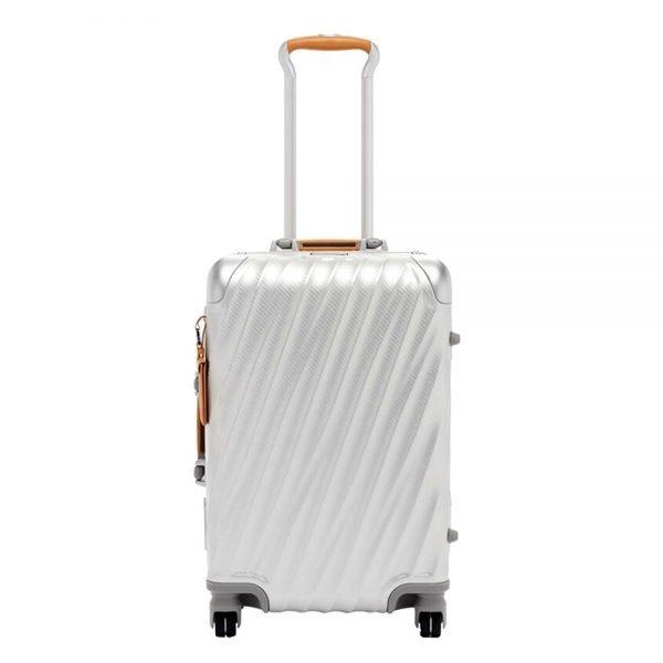 Tumi 19 Degree Aluminium International Carry On texture silver Harde Koffer