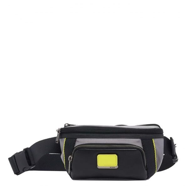 Tumi Alpha Bravo Campbell Utility Pouch grey / brightlimeHeuptas