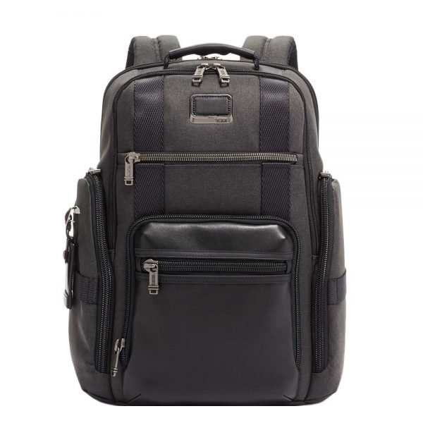 Tumi Alpha Bravo Sheppard Deluxe Brief Pack graphite backpack