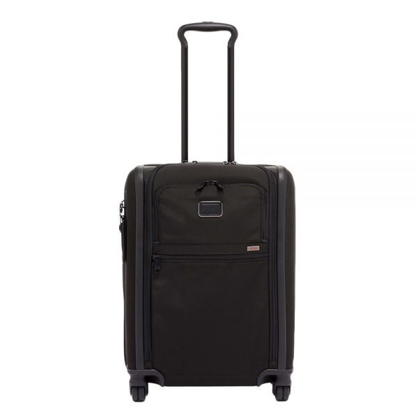 Tumi Alpha Continental Expandable 4 Wheeled Carry-On black Zachte koffer