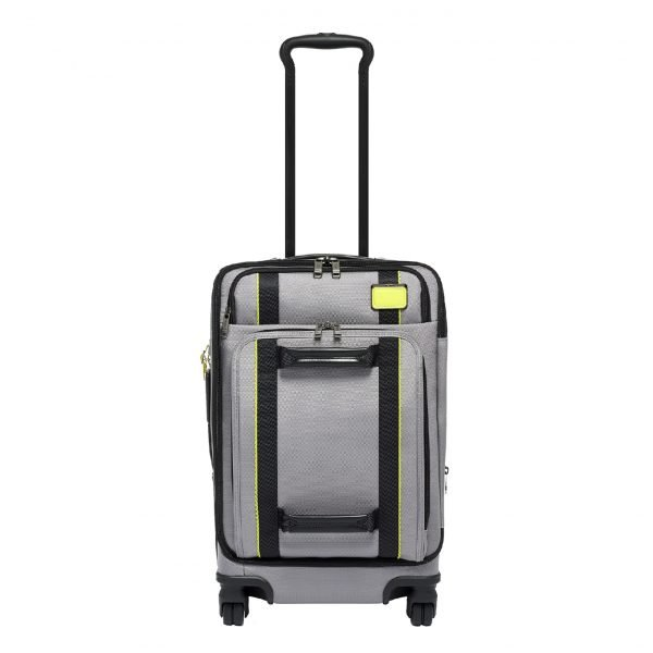 Tumi Merge International Front Lid 4 Wheeled Carry-On grey/bright lime Zachte koffer