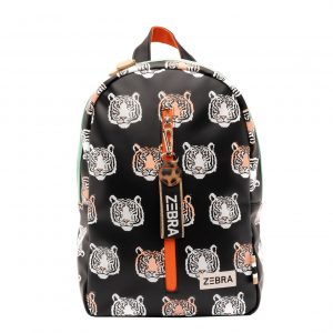 Zebra Trends Girls Rugzak M Tiger black