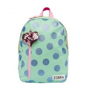 Zebra Trends Girls Rugzak M glitterdots mint