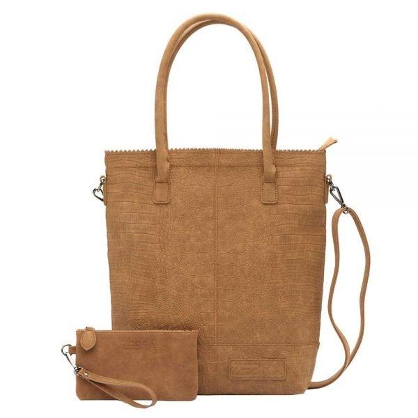 Zebra Trends Natural Bag Kartel XL Rits Croco camel Damestas