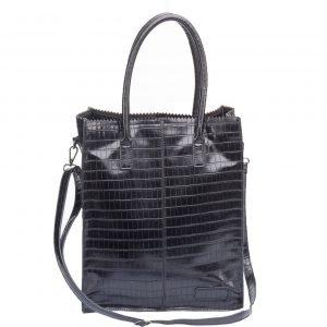 Zebra Trends Natural Bag Rosa black croco Damestas