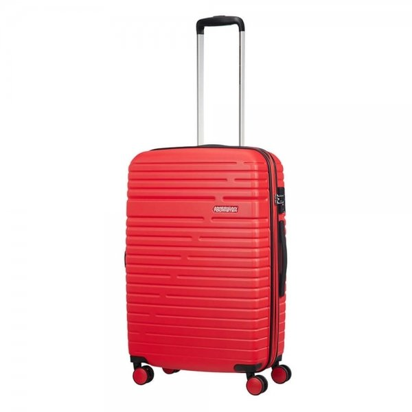 American Tourister Aero Racer Spinner 68 Expandable poppy red Harde Koffer van ABS