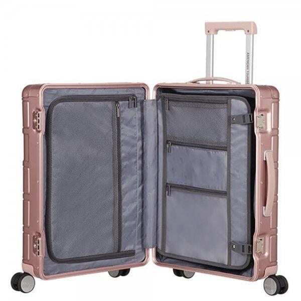 American Tourister Alumo Spinner 55 rose Harde Koffer van Aluminium