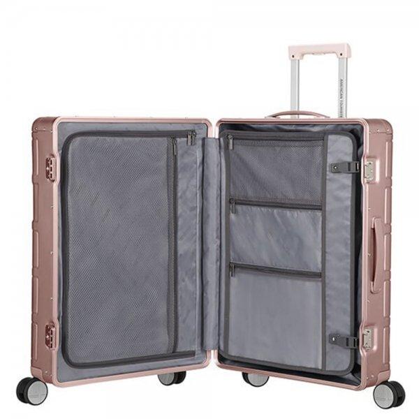 American Tourister Alumo Spinner 67 rose Harde Koffer van Aluminium
