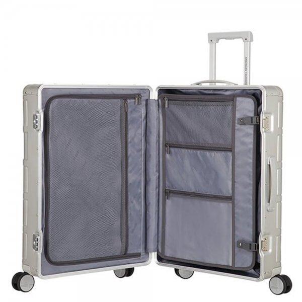 American Tourister Alumo Spinner 67 silver Harde Koffer van Aluminium
