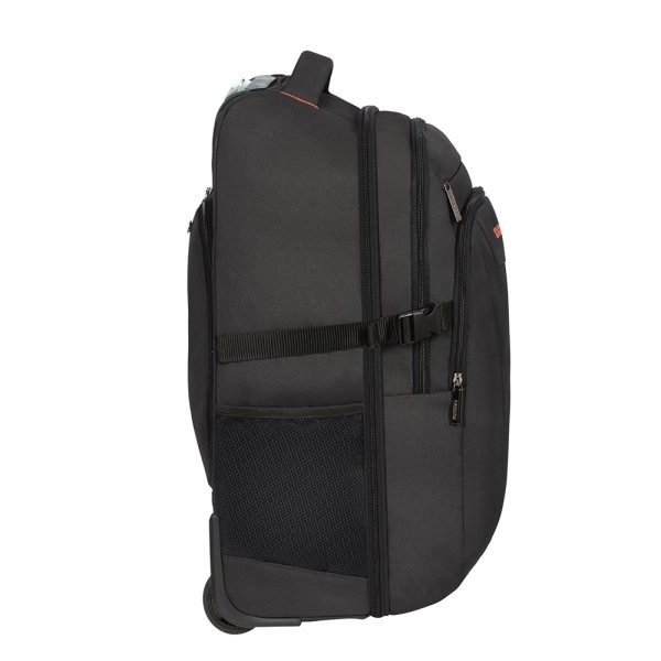 American Tourister At Work Laptop Backpack With Wheels 15.6'' black/orange backpack van Polyester