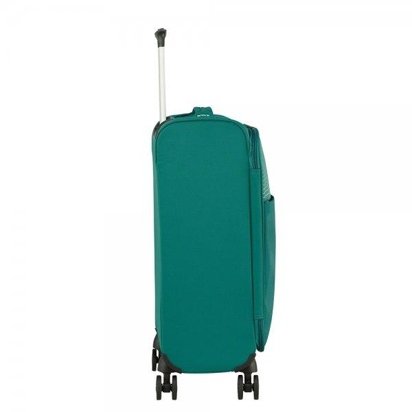 American Tourister Lite Ray Spinner 55 forest green Zachte koffer van Polyester