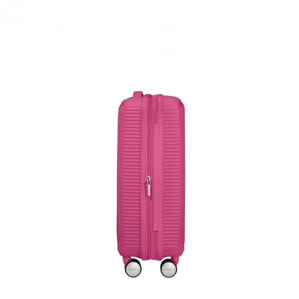 American Tourister Soundbox Spinner 55 Expandable magenta Harde Koffer van Polypropyleen
