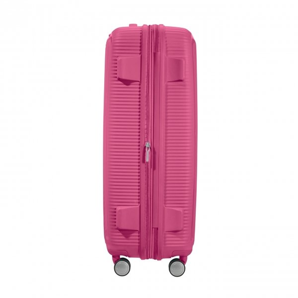 American Tourister Soundbox Spinner 77 Expandable magenta Harde Koffer van Polypropyleen
