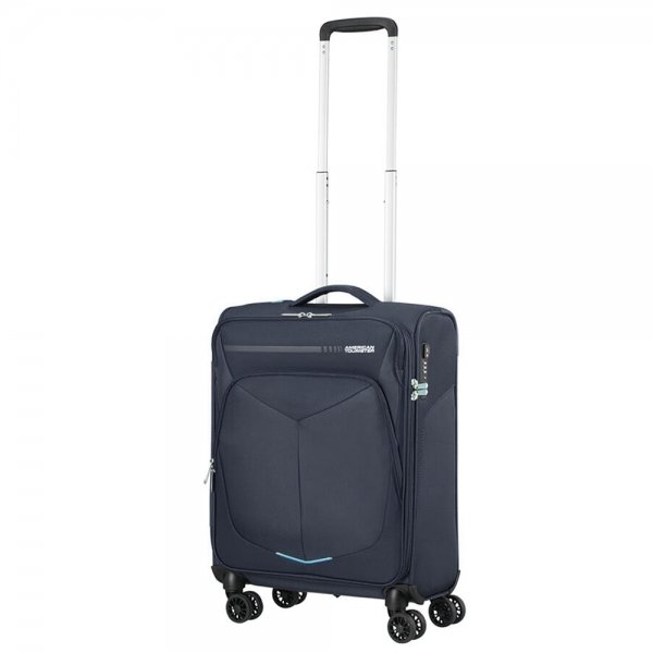 American Tourister Summerfunk Spinner 55 Strict navy Zachte koffer