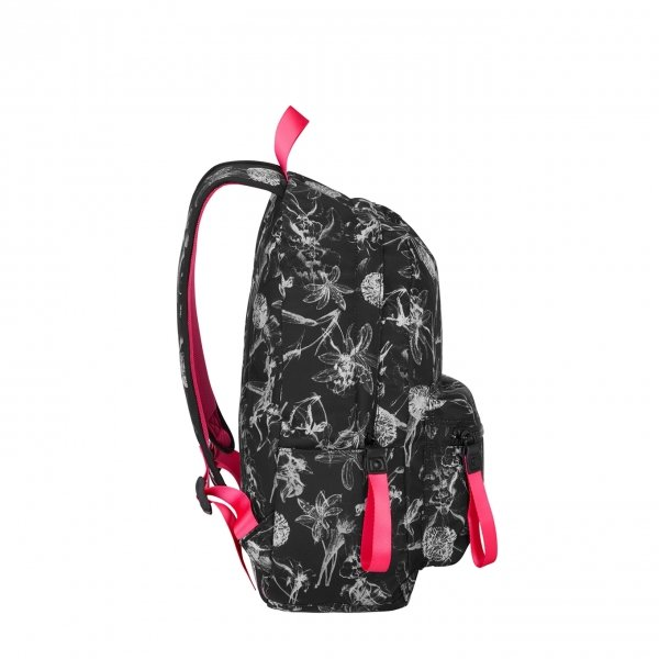 American Tourister Urban Groove Lifestyle Backpack 6 flowers black backpack van Polyester