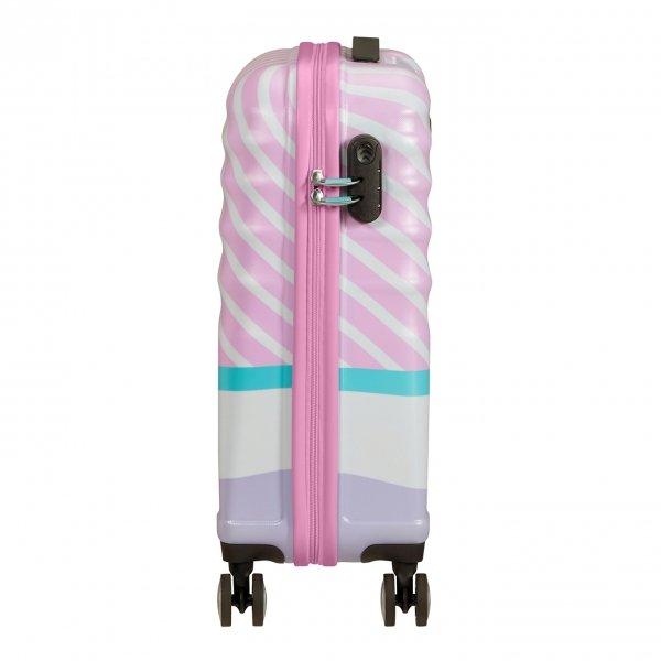 American Tourister Wavebreaker Disney Spinner 55 daisy pink kiss Harde Koffer van ABS