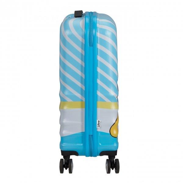 American Tourister Wavebreaker Disney Spinner 55 donald blue kiss Harde Koffer van ABS