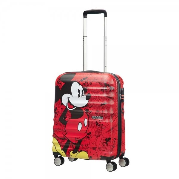 American Tourister Wavebreaker Disney Spinner 55 mickey comics red Harde Koffer