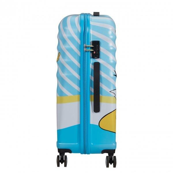 American Tourister Wavebreaker Disney Spinner 67 donald blue kiss Harde Koffer van ABS