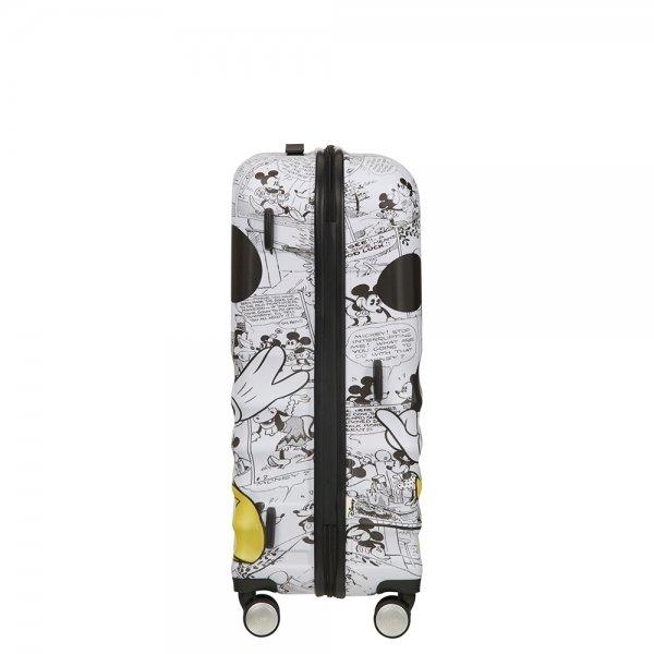 American Tourister Wavebreaker Disney Spinner 67 minnie comics white Harde Koffer van ABS