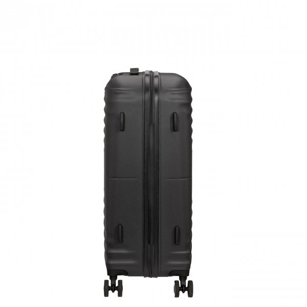 American Tourister Wavetwister Spinner 66 universe black Harde Koffer van ABS