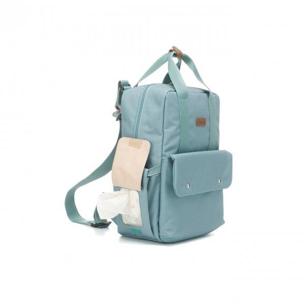 Babymel Georgi Convertible Backpack aqua Luiertas van Polyester