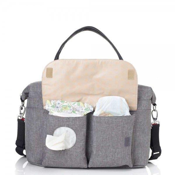 Babymel Jade Diaper Bag grey Luiertas van Polyester