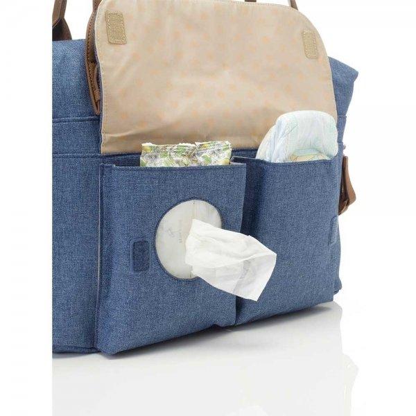 Babymel Jade Diaper Bag mid blue Luiertas van Polyester
