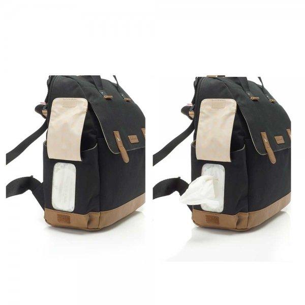 Babymel Robyn Convertible Backpack black Luiertas van Canvas