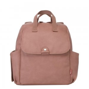 Babymel Robyn Convertible Backpack faux leather dusty pink Luiertas
