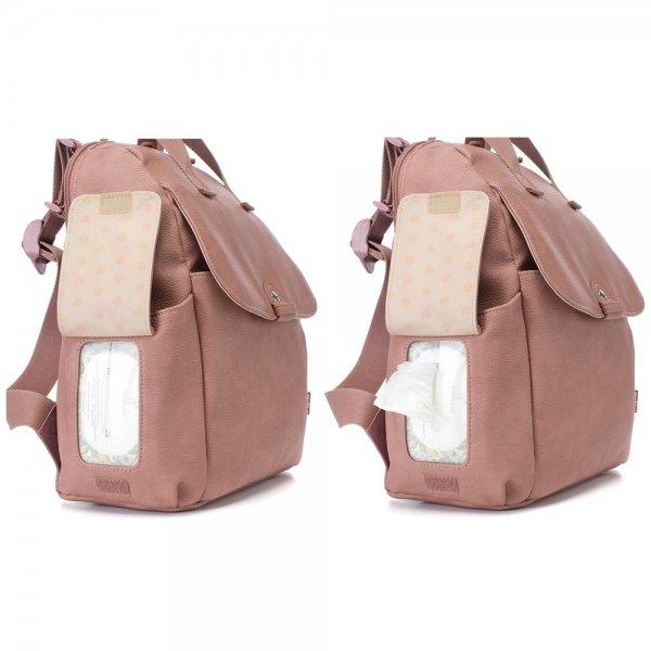 Babymel Robyn Convertible Backpack faux leather dusty pink Luiertas van Canvas