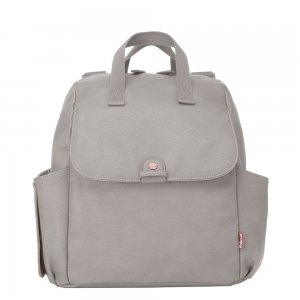 Babymel Robyn Convertible Backpack faux leather pale grey Luiertas