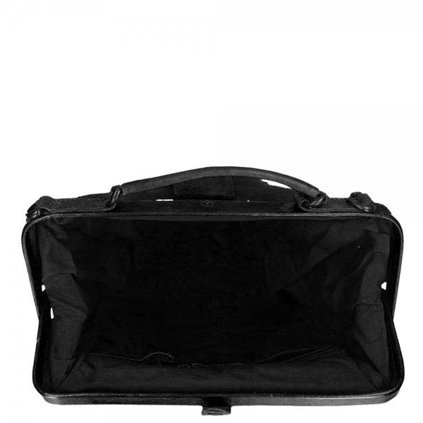Bear Design Cow Lavato Backpack black Damestas van Leer