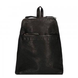 Bear Design Cow Lavato Rugzak zwart Leren tas