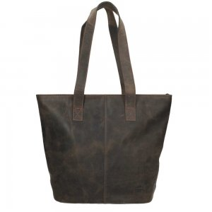 Bear Design Dark Nature Shopper brown Damestas